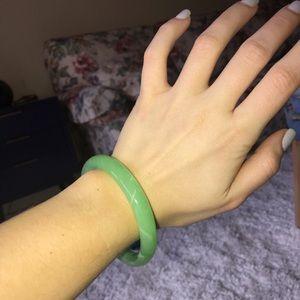 Jewelry - Jade Glass Bangle Bracelet